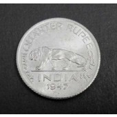 Bengal Tiger India 1/4 rupee 1947
