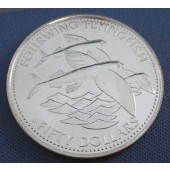 Four-winged Flying Fish - Barbados - 50 dollars - 1984
