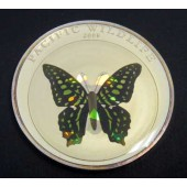 Green Spotted Triangle Butterfly - Palau - 1 dollar - 2008