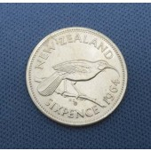 Huia Bird - New Zealand - 6 pence - var