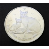Bermilla Cat w/ kitten - Isle of Man - 1 crown - 2008