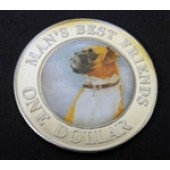 Boxer Dog - Cook Island - 1 dollar - 2003
