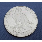 Peregrine Falcon Isle of Man $5 1991