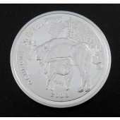 Wiesant Bison Cow & Calf Poland Medal 1996 (Bull on Front)