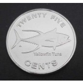 Yellow-finned Tuna Micronesia 25 cents 2012